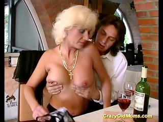 avid old mom acquires hard drilled