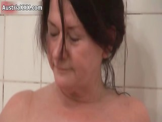naughty old lesbians make out in the washroom