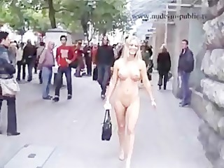 hot golden-haired nude in public part8