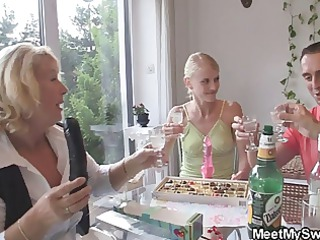 his mamma gets mad fucking her sons girlfriend