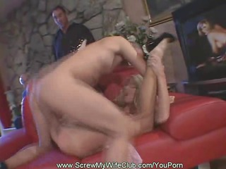 swinger wife fucks during the time that hubby