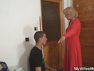 wife finds him fucking her old mama and receives