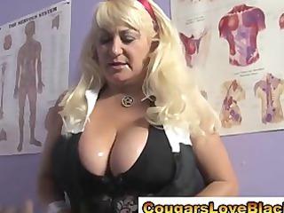 interracial cougar masseuse