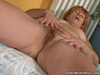 redheaded granny susan copulates her shaggy