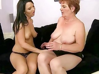 nasty teen and unsightly granny have sex