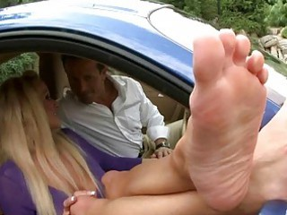 naughty d like to fuck enjoys foot fetish