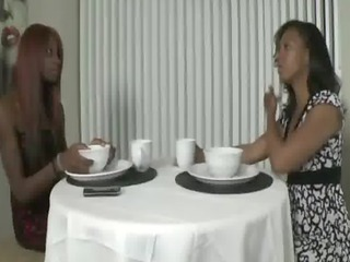 ebony mamma instructs daughter how to acquire a