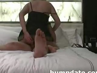 wife inserts toy in arse whilst she is gets