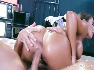 brunette hair getting snatch group-fucked
