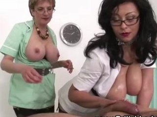 aged femdom ffm russian handjob cumshot