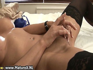 lewd older wife in dark nylons
