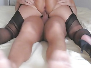 lascivious amateur granny in sexy action