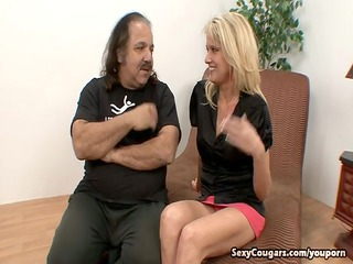 sexually excited cougar copulates ron jeremy