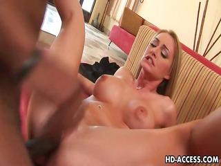 hot golden-haired aline interracial sex
