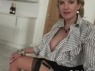 mature femdom brit stripping