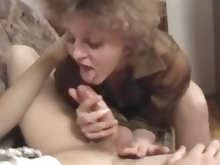 mature blond slut does trio anal with a youthful