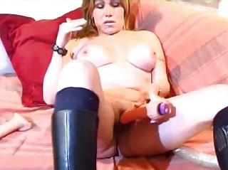breasty older amateur wife toying ass and pussy