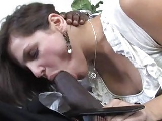 turned on dark brown momma takes on dark cum