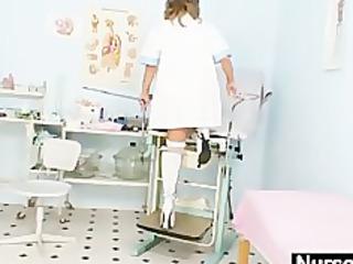 slender d like to fuck senior nurse toys her