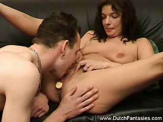 guy likes a mature banana flavored pussy