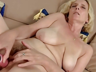 hairy aged with saggy tits dildoing by troc