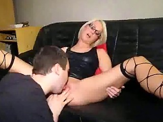 golden-haired mother i in nylons gets a powerful