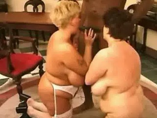 2 fat matures share 7 black cock