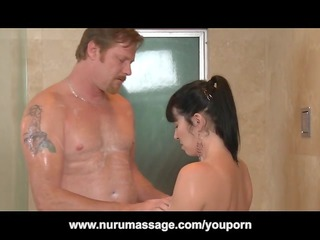 nuru massage fuck with large wobblers mother i