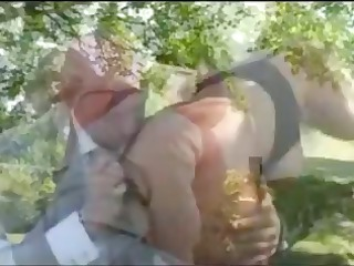 aged fucked in the garden