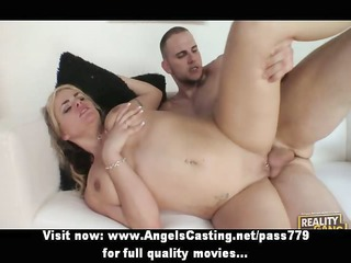 enjoyable undressed blond hottie fucked hard and