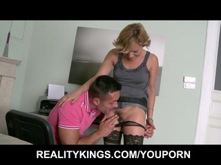 horny golden-haired mother i sets up a fuck