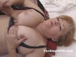 busty redhead bulky grandma screwed by juvenile