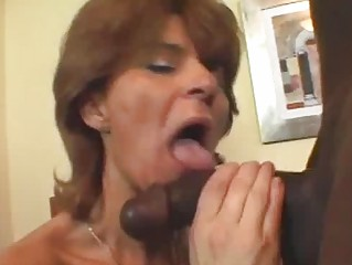 aged whore in fishnets takes black dick
