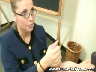 dilettante teacher creamed in her face