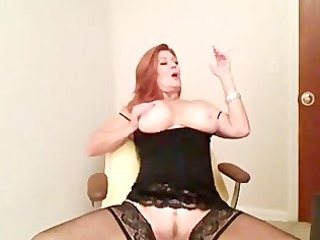 redhead aged smokin and playing