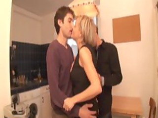 alicia, blond aged screwed in a three-some