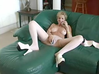 horny mother copulates dildo and dude