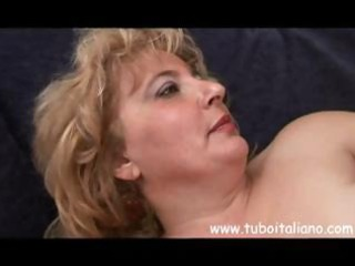 obese mature italian blond granny acquires some