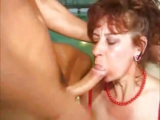 granny oral stimulation cumpilation