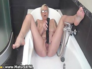 horny aged lady fucking her own taut part2