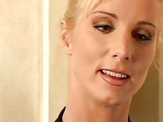 pretty golden-haired milf with shaggy snatch