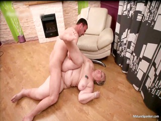 wicked obese blond milf receives spanked