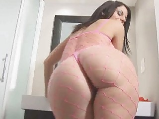 large tits milf fishnet ass worship