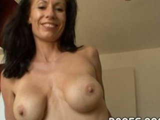 breasty aged floozy masturbates