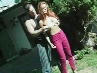 outdoor sport with busty redhead mother i