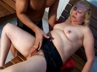 lusty golden-haired older gives astounding