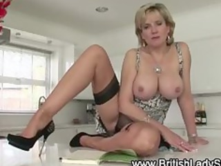 slutty mature british chick shows off