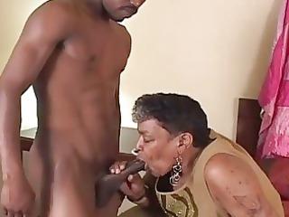 dark granny likes the juvenile schlong