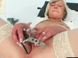 dirty nurse milf nada copulates herself with