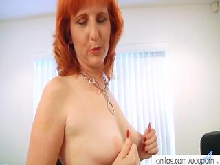 redhead mother i fucks hairy pussy